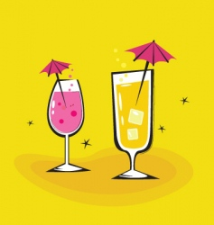 summer cocktails background vector image vector image
