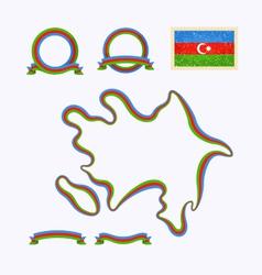 Colors of Azerbaijan vector image