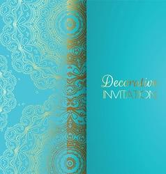 Decorative invitation background vector image vector image