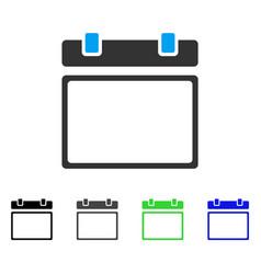 empty calendar page flat icon vector image