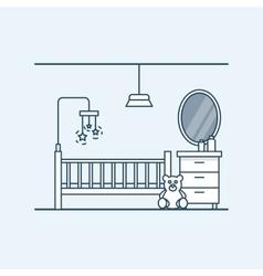 Modern interior design of a child room Children vector image