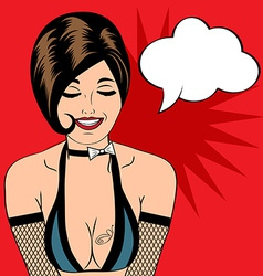 sexy horny woman in comic style xxx vector image vector image