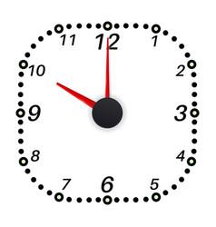 clock face ten oclock vector image vector image