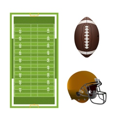 American Football Elements vector image vector image