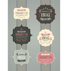 Collection of Hand Drawn Vintage Label Frame vector image