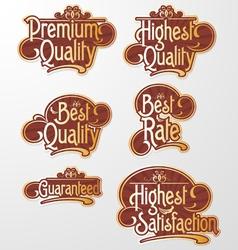 Decorative Text Label vector image