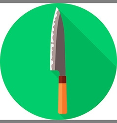 flat chef knife vector image vector image