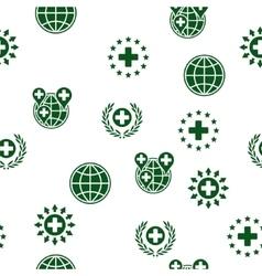 Global Healthcare Seamless Seamless Flat vector image vector image