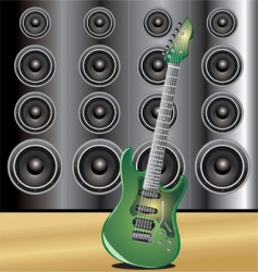 guitar loudspeaker vector image vector image