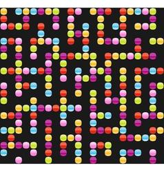 Infinite maze seamless background pattern vector image