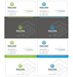 letter s business card 2 vector image