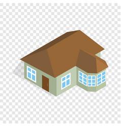 one storey house with veranda isometric icon vector image