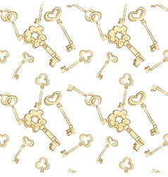 Seamless keys pattern vector image