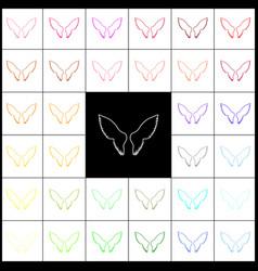 wings sign felt-pen 33 vector image vector image