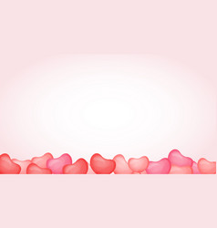 3d pink balloon from bottom vector image
