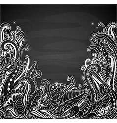 Abstract hand drawn black background vector