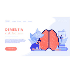 Alzheimer disease concept landing page vector