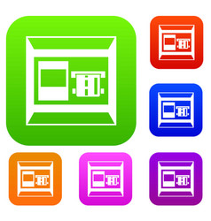 atm set collection vector image