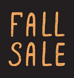 Autumn and fall sale vector