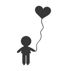 avatar boy with balloon vector image