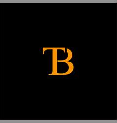B t letter logo emblem design vector
