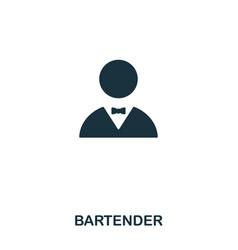 Bartender icon line style icon design ui vector