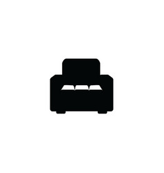 black armchair icon isolated on white background vector image