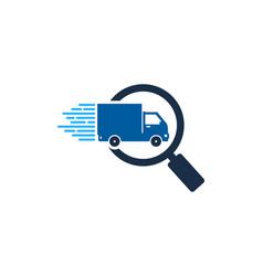 Browse delivery logo icon design vector