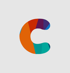 C diamond font template design vector