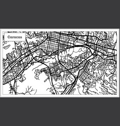 Caracas venezuela city map in black and white vector