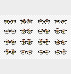 cartoon female eyes colored closeup eyes vector image