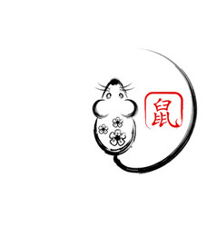 chinese zodiac sign year rat chinese new year vector image