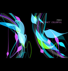 Colorful shaped on black vector
