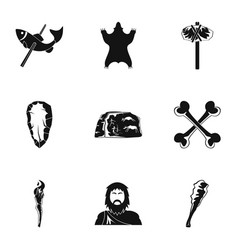 common progenitor icons set simple style vector image