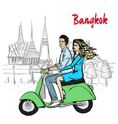 couple in thailand vector image