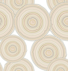 Cross section of tree trunk isolated on white vector image