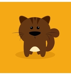 Cute Cartoon squirrel vector
