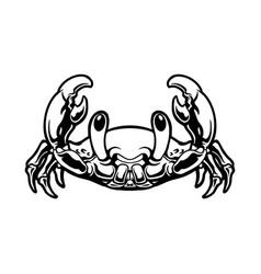 cute crab cartoon silhouette vector image