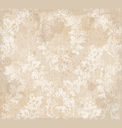 Damask ornament pattern texture royal vector