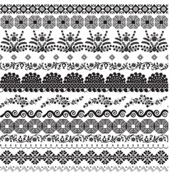 decor with slavic patterns vector image