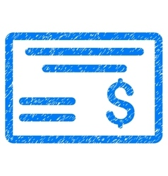 Dollar Cheque Grainy Texture Icon vector