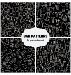 Drinks Seamless Pattern 1 vector