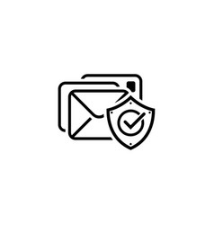 E-mail protection icon flat design vector