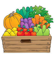 farm products theme image 1 vector image