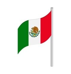 Flag of Mexico icon isometric 3d style vector