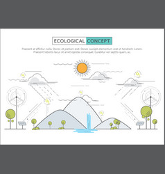 flat line eco concept vector image