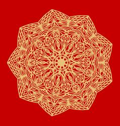 flower gold mandala vintage decorative elements vector image