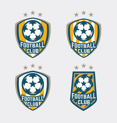 football club logo badges set vector image