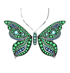 Gem Butterfly vector image