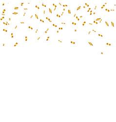 Golden confetti isolated festive background vector